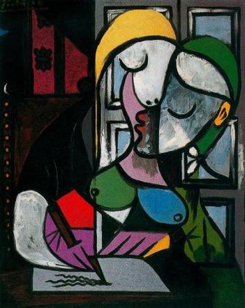 Altrove woman-writing-picasso