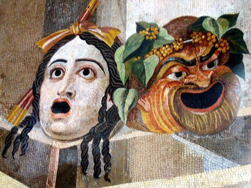 avanti tragic_comic_masks_-_roman_mosaic