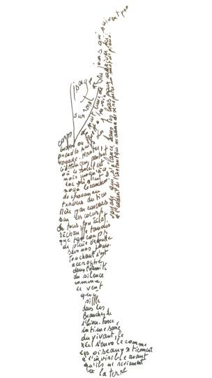 Barbara calligramme, Boris Sentenac (tous droits réservés)