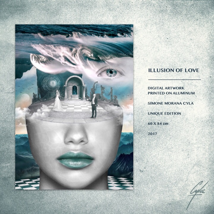 ILLUSION OF LOVE © 2017 | Digital Painting by Simone Morana Cyla | Unique Edition |
