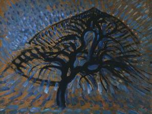 non ho apple-tree-pointillist-piet-mondrian