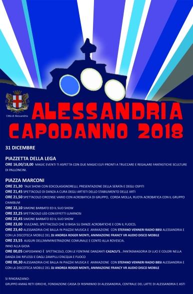 pro Locandina Capodanno 2018 Alessandria