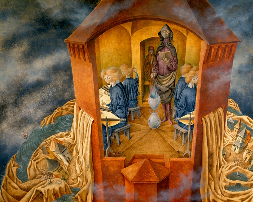Remedios Varo Bordando-El-manto-1960