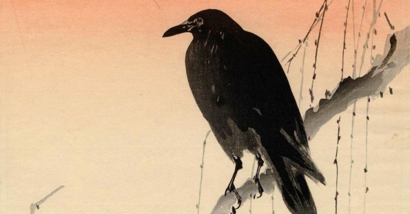 un 1a seiko-crow-on-a-willow-branch