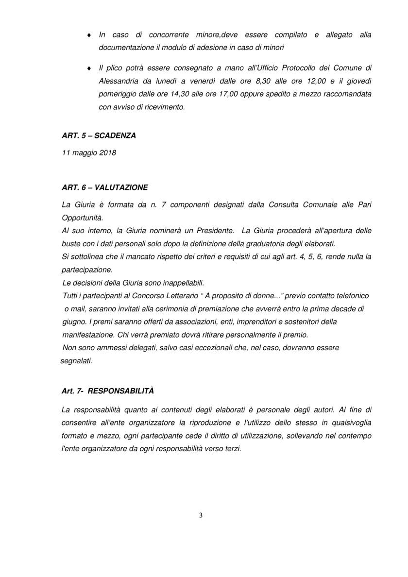 Concorso Regolamento Concorso Letterario A proposito di Donne_Alessandria 3