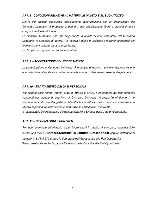 Concorso Regolamento Concorso Letterario A proposito di Donne_Alessandria 4