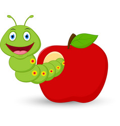 cute-worm-cartoon-in-the-apple-vector-13631265