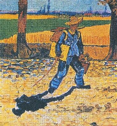 il pittore a passeggio