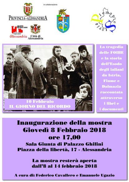 Locandina_Mostra Giorno Ricordo 2018_Alessandria
