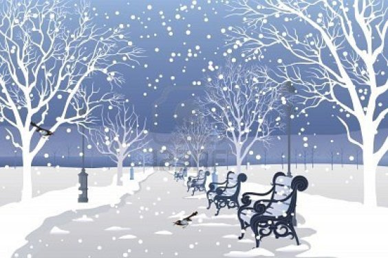 alg 8642251-neve-che-cade-in-un-parco-della-citt
