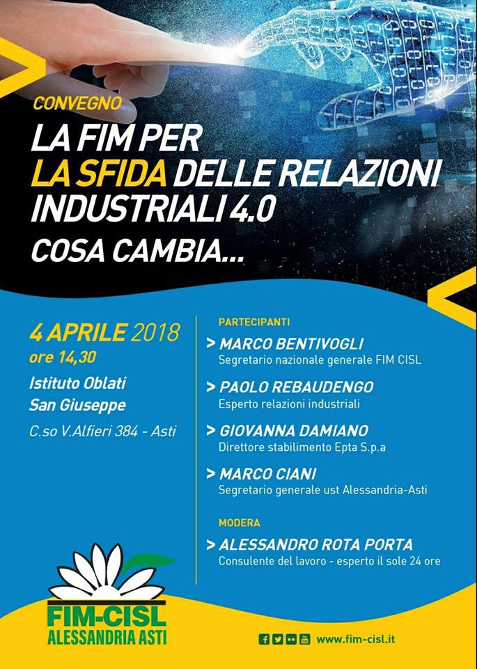 fim cisl Convegno Industria 4.0 Cisl ad ASti-4-4-18