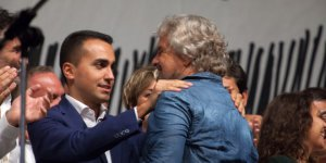 Five Stars Movement leader Beppe Grillo holds a rally in Palermo