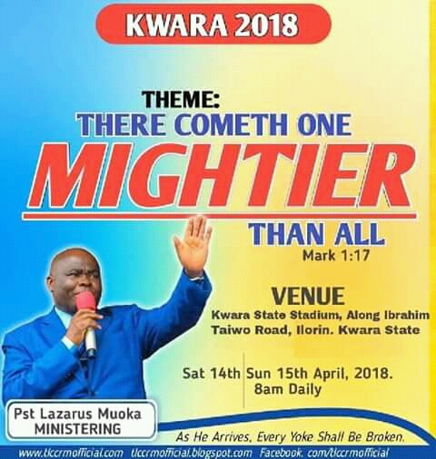 """THE GRAND FINALE OF THE LORD'S CHOSEN INTERNATIONAL CRUSADE ENTITLED """"THERE COMETH ONE MIGHTIER THAN ALL"""" WATCH IT LIVE NOW VIA """"CHOSEN TV"""" onYouTube"""