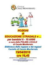 LOCANDINA EDUCAZIONE STRADALE 19-4-18