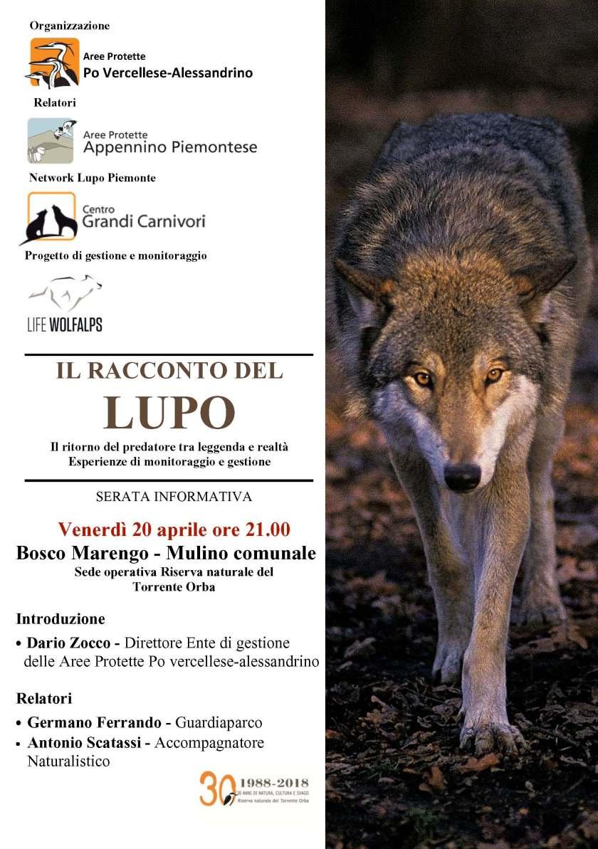 Serata Informativa lupo - Bosco Marengo 20.4.2018
