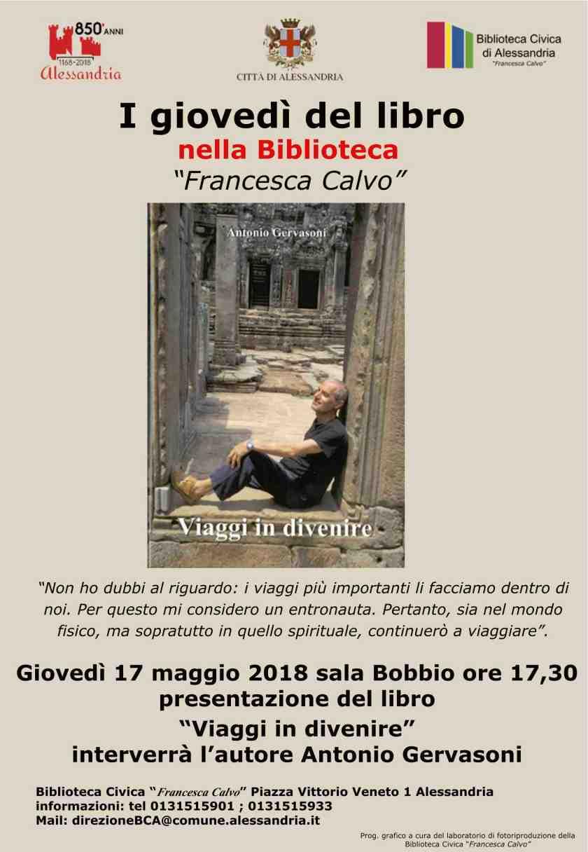 biblio Locandina presentazione libro Gervasoni_17-05-2018