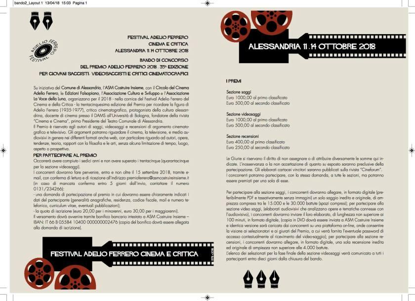 premio Bando Ferrero retro