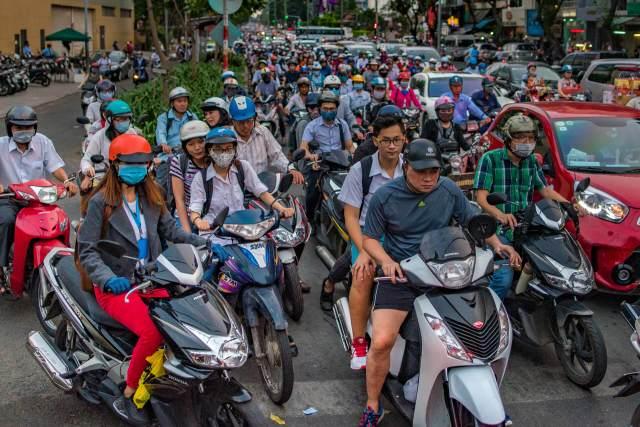 Vietnam-Saigon-Ho-Chi-Minh-Steet-Traffic-Jam