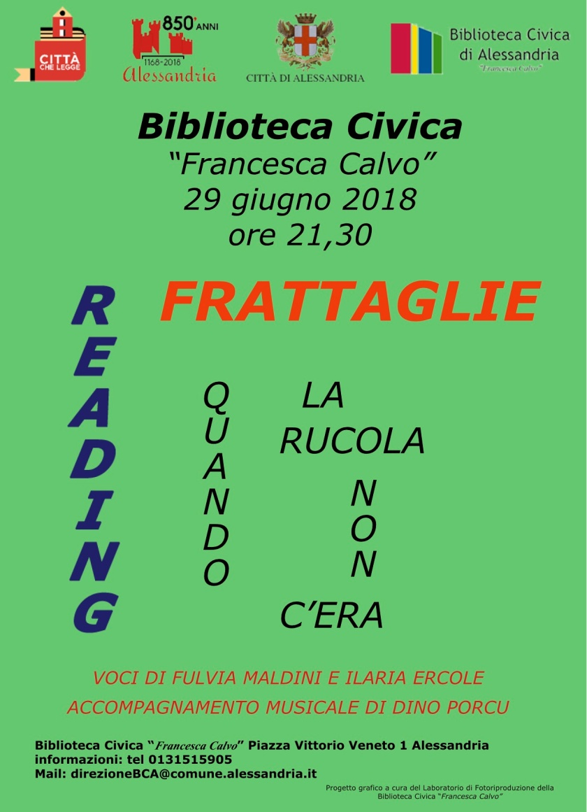 Reading Frattaglie_Biblioteca Civica Alessandria_29-06-2018
