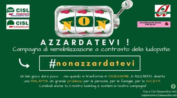 HASHTAG #NONAZZARDATEVI CAMPAGNA CONTRO LUDOPATIA