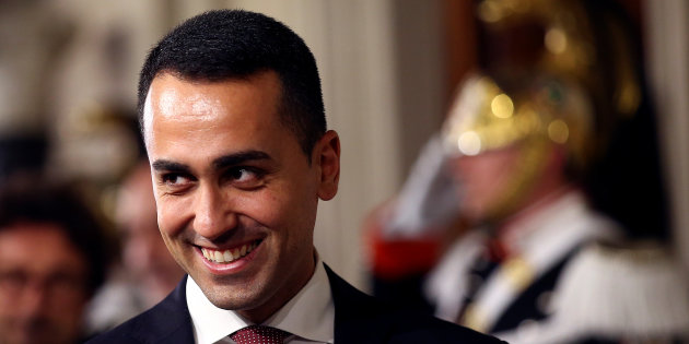 Anti-establishment 5-Star Movement leader Luigi Di Maio leaves after a consultation with the Italian President Sergio Mattarella at the Quirinal Palace in Rome