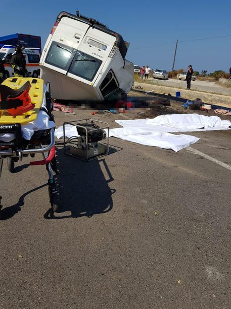 Incidente stradale avvenuto sulla statale 16, nei pressi di Lesina, al bivio di Ripalta