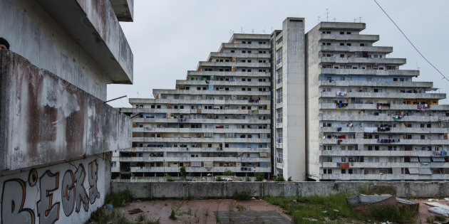 A view from the Vele building (the sail) in the Scampia area