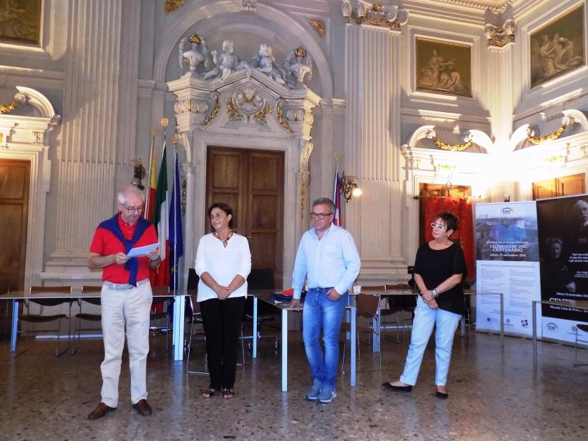 cent Da sx Dionigi Roggero, Titti Palazzetti, Mauro Bincoletto e Ornella Caprioglio