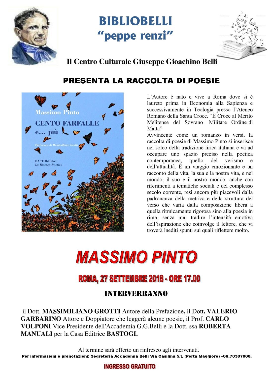 Cento Farfalle - Presentazione Roma 2018