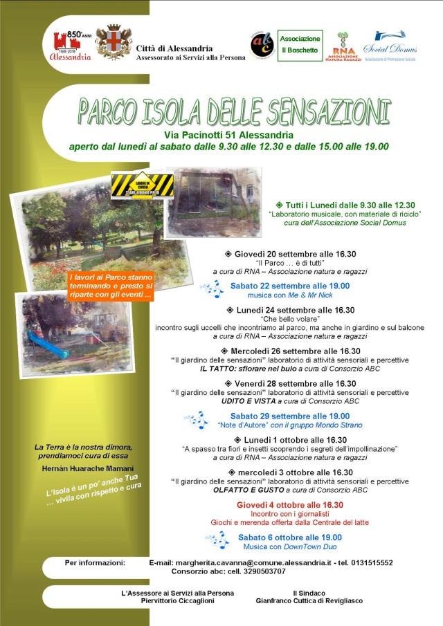 isola iniziative 2018DEF