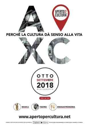 Locandina_Aperto per Cultura_aa Alessandria_2018