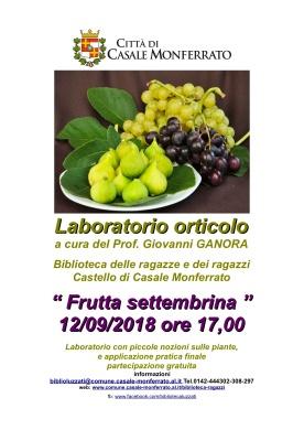 set locandina laboratorio orticolo 12-9-18 frutta settembrina