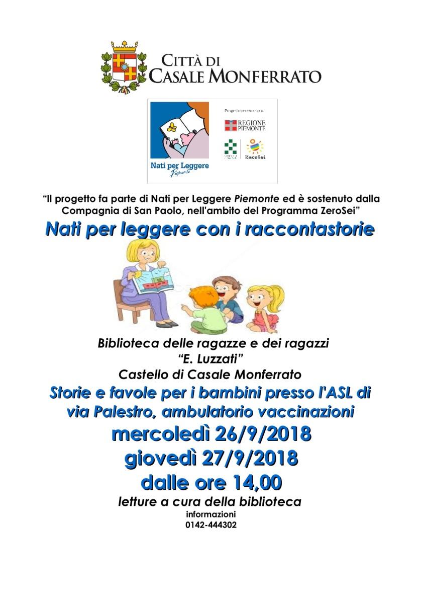 storie locandina letture ASL VACCINAZIONI 26-27-9-2018