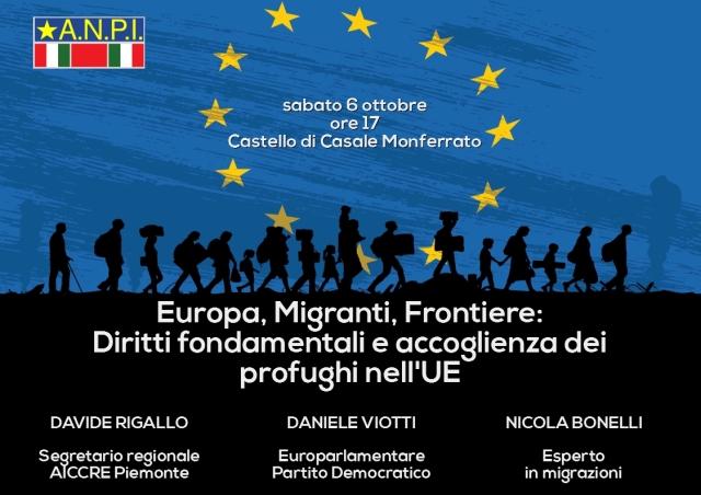 ANPI CasaleEuropa, Migranti, Frontiere - Locandina