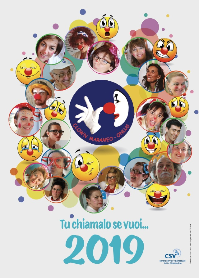 CLOWN MARAMEO Copertina Calendario 2019-001
