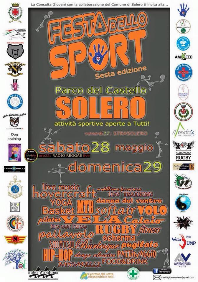 Festa dello sport al Parco castello di Solero