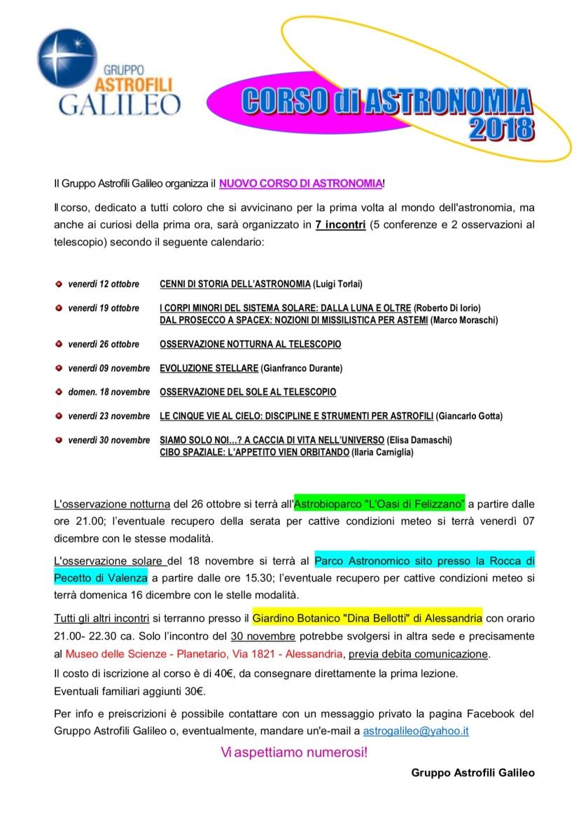 Locandina Corso 2018