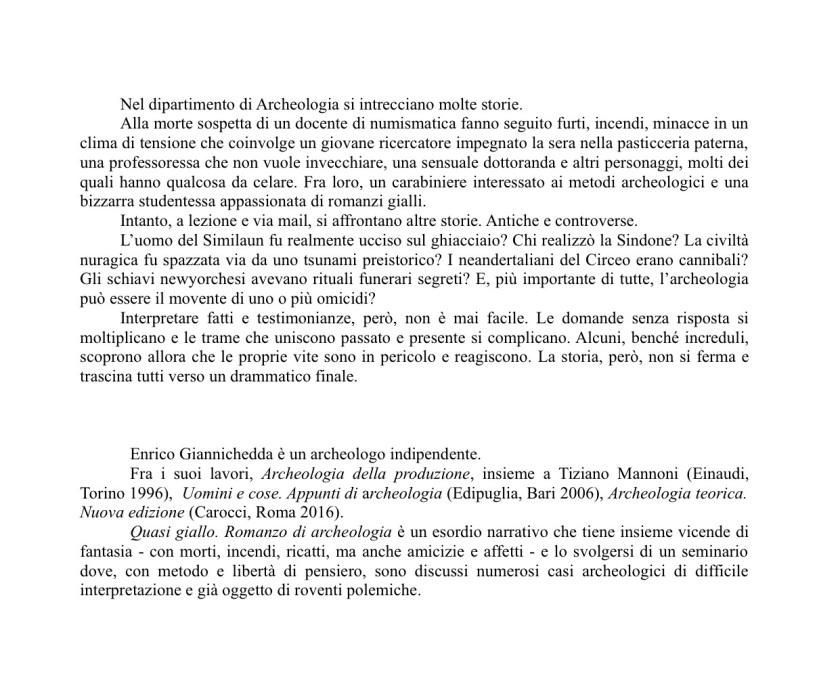 1aa Museo Giannichedda ALETTE romanzo