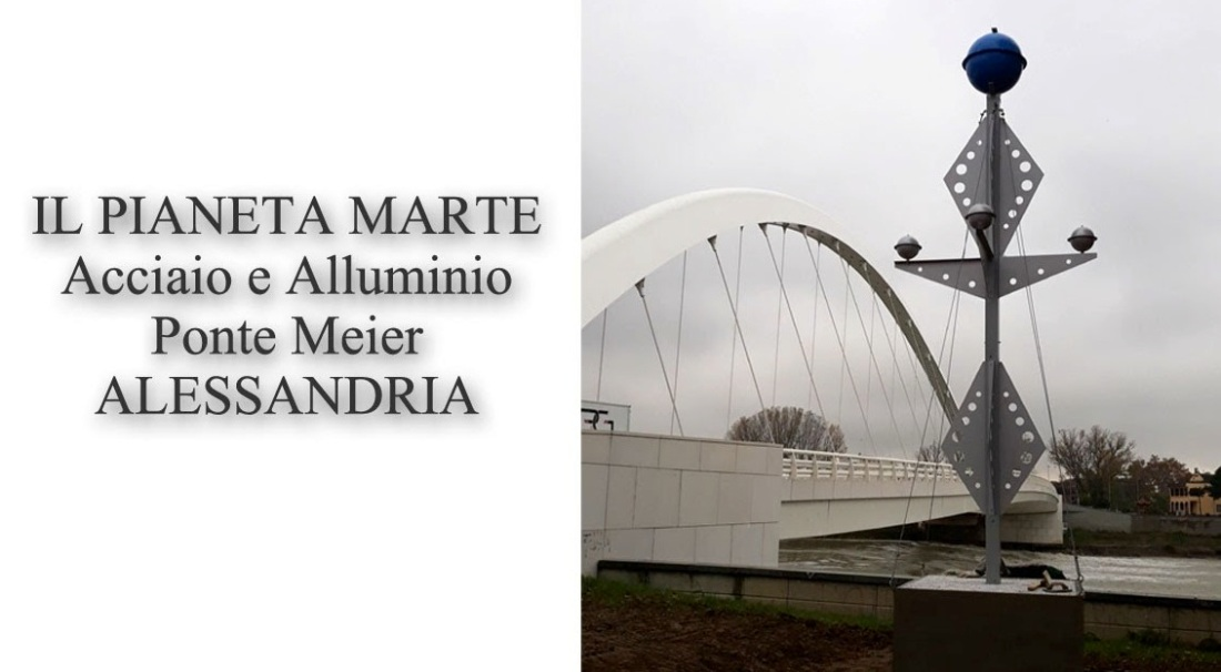 1aaa ponte meier, alessandria, il pianeta marte, scultura