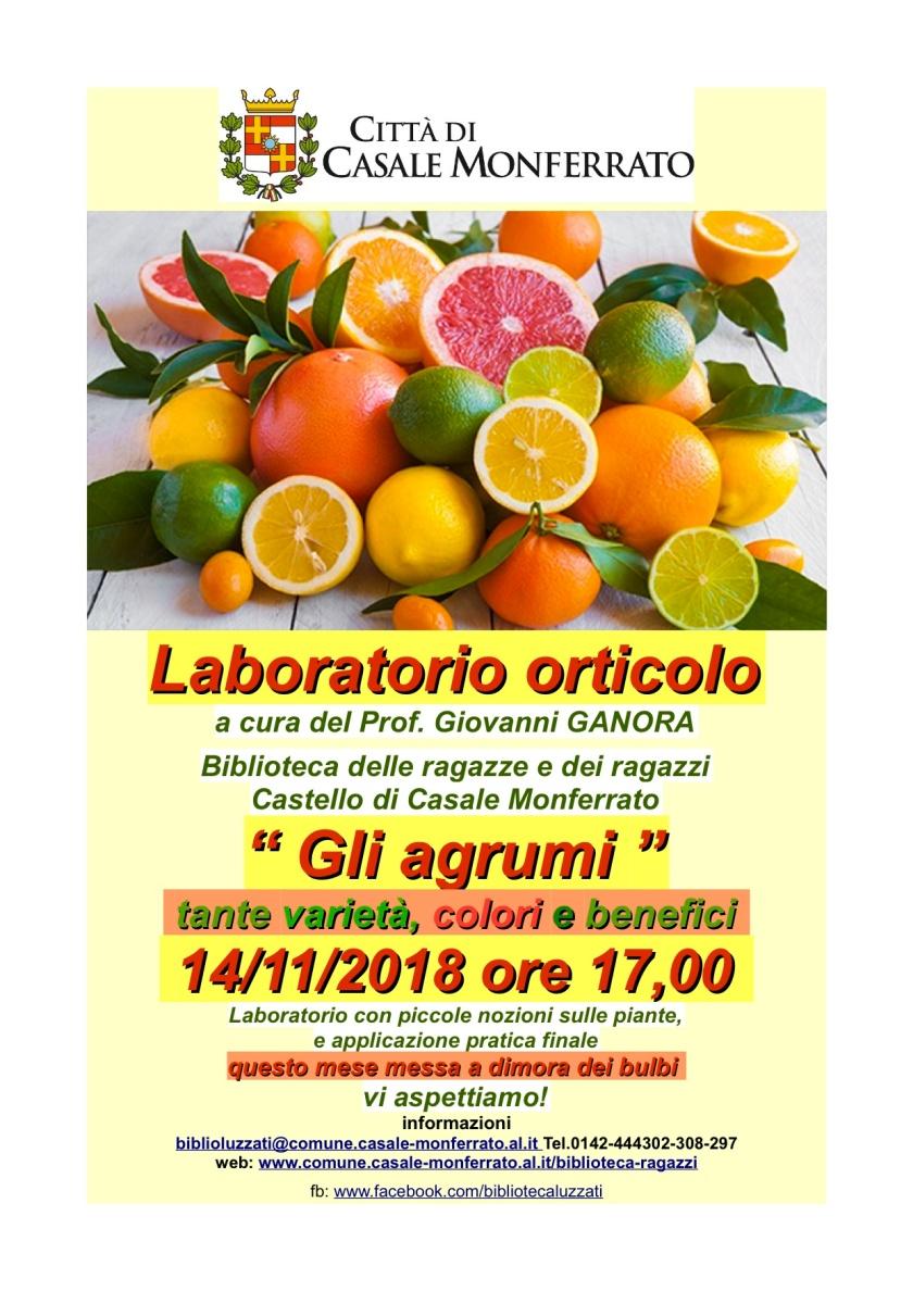 nov locandina laboratorio orticolo 14-11-18 gli agrumi