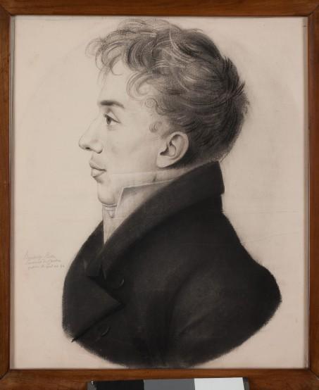 vidua Profilo del conte Carlo Vidua, 1818, carboncino su carta di Etienne Bouchardy