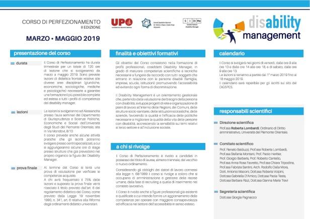 1aa com brochure ii ediz corso disability management_upo_alessandria