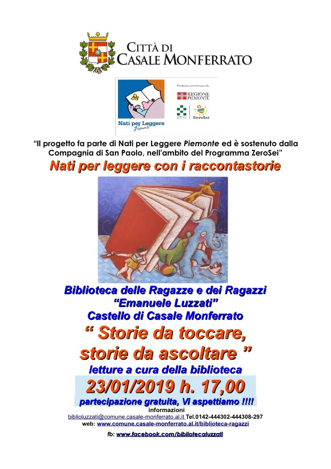 genn locandina letture npl storie da toccare e ascoltare 23-1-2019