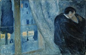 Munch-Il bacio con la finestra