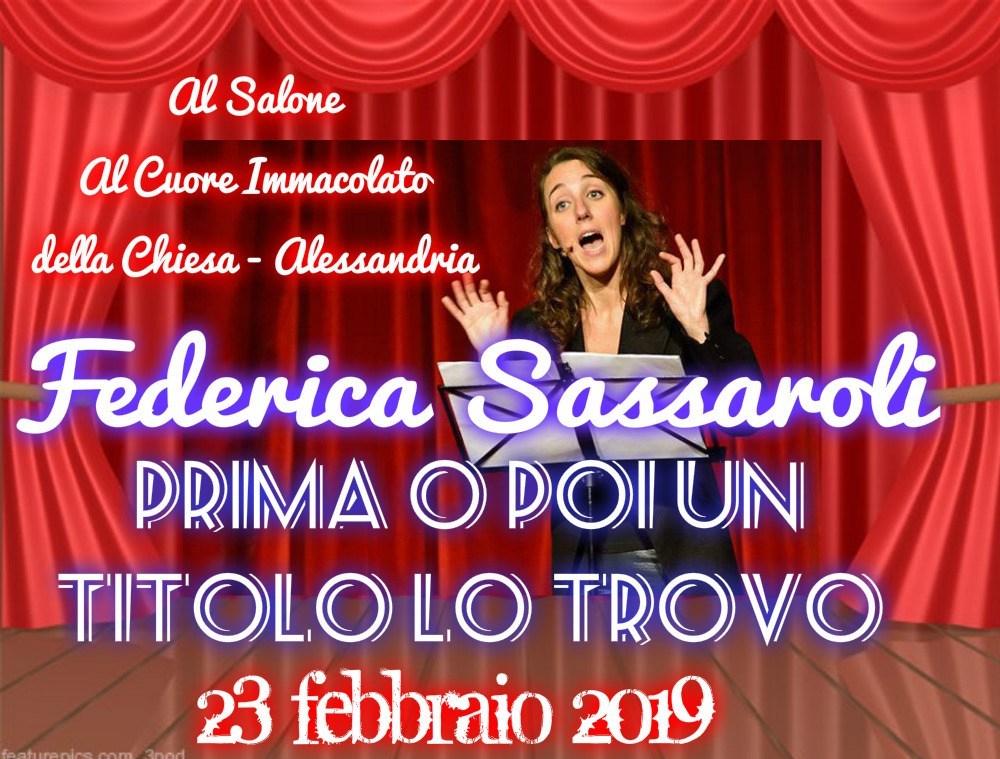 Federica Sassaroli in scena il 23 febbraio per il World Thinking Day – di MarinaVicario
