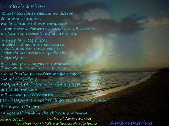 Il silenzio di Miriam