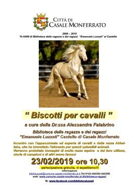 Luzzati locandina incontro Falabrino A. su cavalli e biscotti 23-2-19