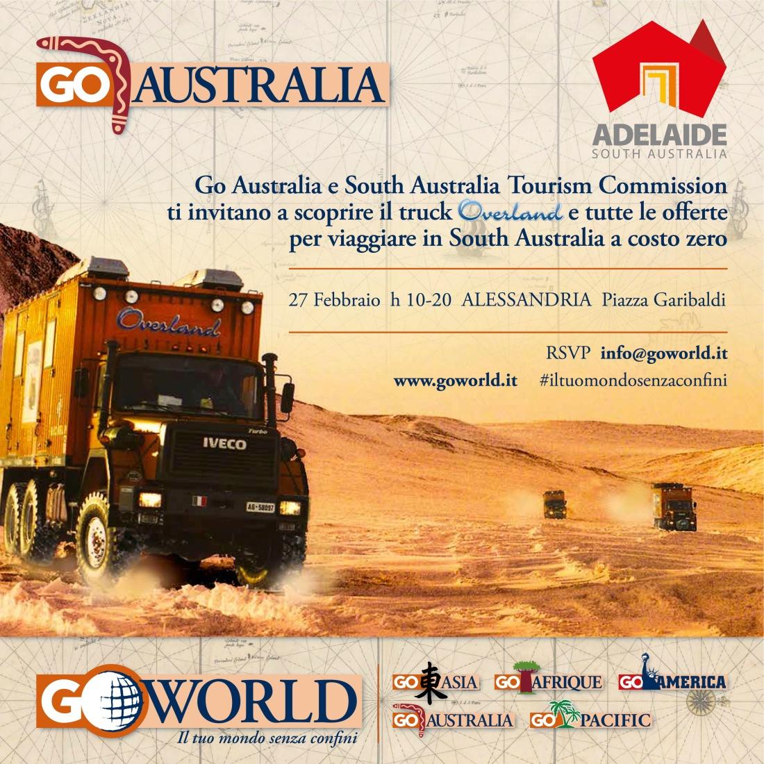 overland invito Australia ALESSANDRIA