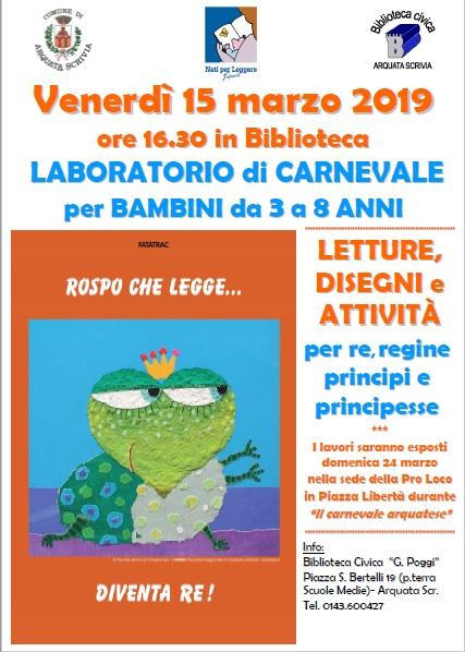manifesto letture carnevale 2019