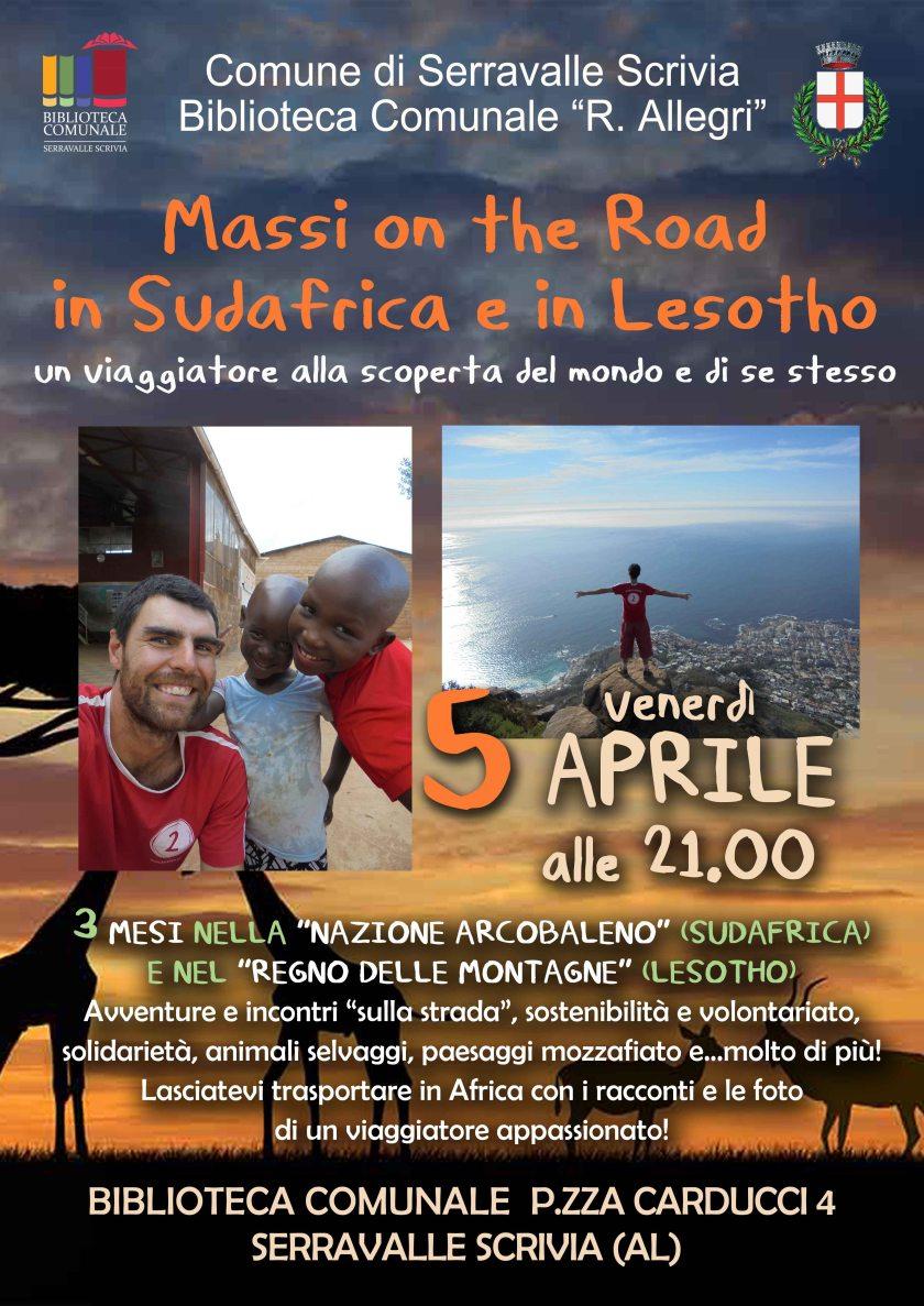 top Massi on the road in Sudafrica_Locandina